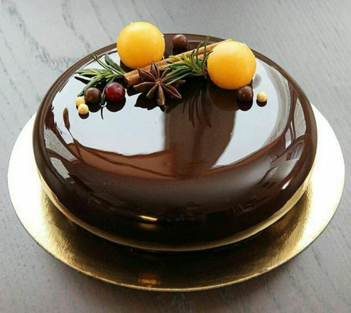 Idee De Decoration De Gateau Gla Ef Bf Bdage Chocolat