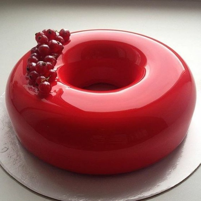 100 photos de desserts au gla age miroir et quelques for Glacage rouge miroir
