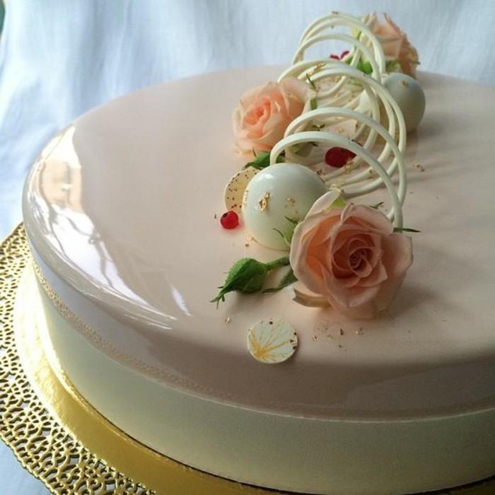100 photos de desserts au gla age miroir et quelques for Glacage miroir framboise