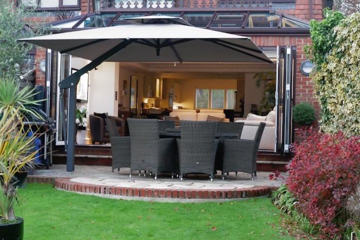 parasol chauffant de terrasse