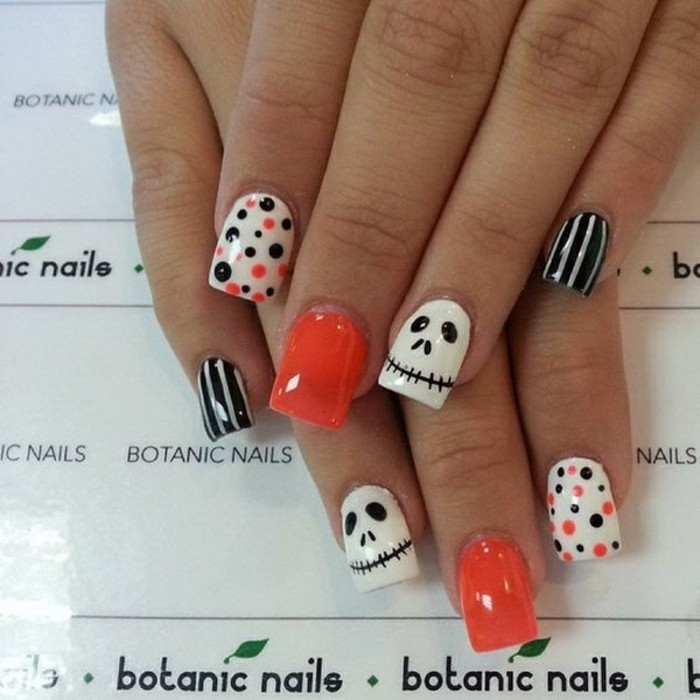 halloween-nail-art-idee-de-dessin-facile-art-cool