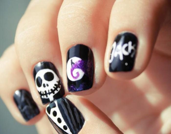 halloween-nail-art-idee-de-dessin-facile-art-jack