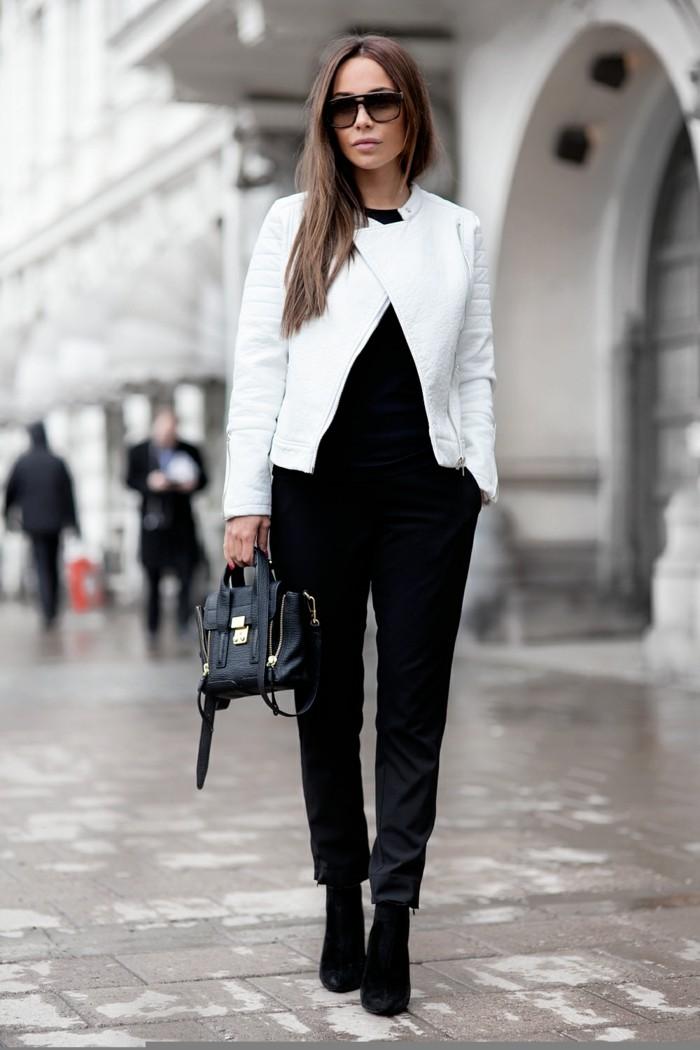 idee-bottine-tendance-boots-tendance-blanche-veste-en-cuir