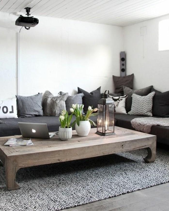 idee-decco-salon-exceptionnelle-couleur-peinture-salon-blanc-canape-gris-tapis-gris-table-bois-brute-ambiance-cosy