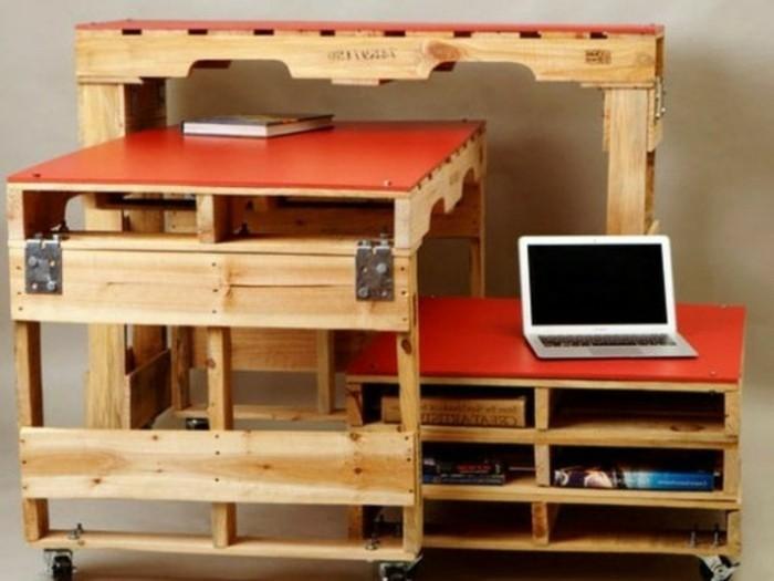 Bureau en palette mod les diy et tutoriel pour le - Idees transformer palettes en meuble design ...