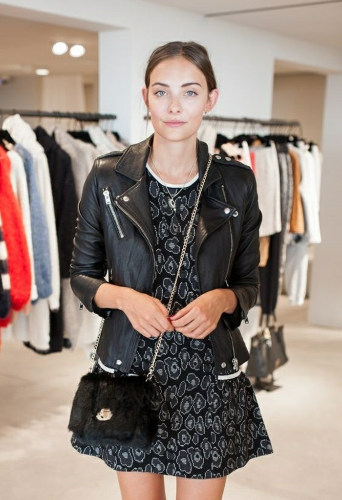 idee-tenue-perfecto-noir-femme-rock-cool-belle-femme