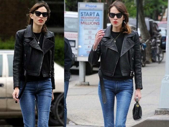 idee-tenue-perfecto-noir-femme-rock-cool-celebre