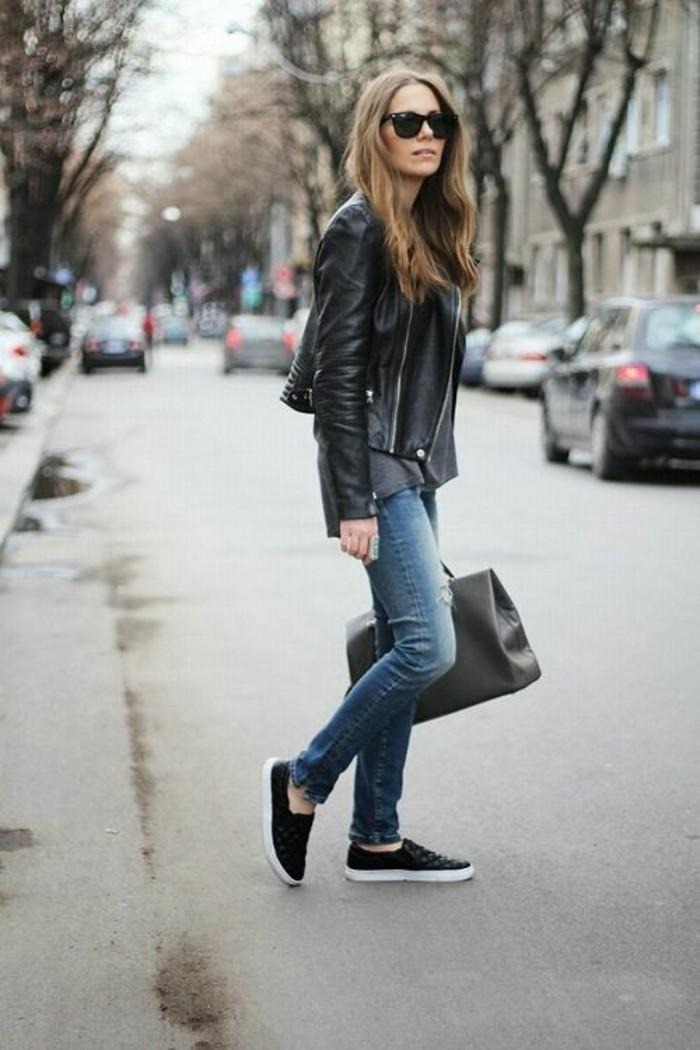 idee-tenue-perfecto-noir-femme-rock-cool