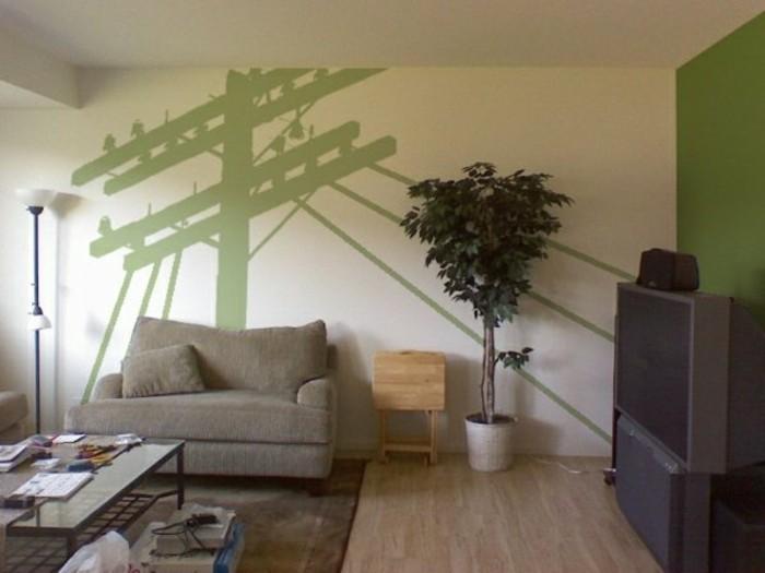 idee-mur-salon-stickers-muraux-sol-en-parquet-canape-beige-tapis-marron