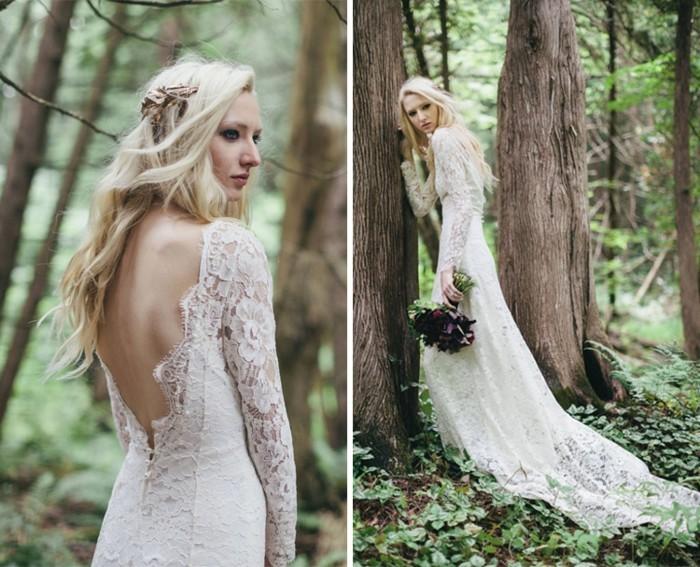 Jolie mariée – une longue robe blanche pour votre mariage bohème ...