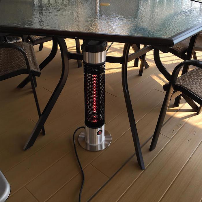 Parasol chauffant profitez de la terrasse toute l 39 ann e - Parasol chauffant de table ...