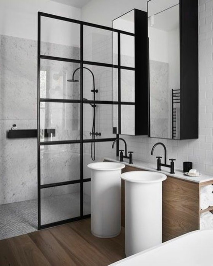 Le lavabo colonne en 81 photos inspirantes for Carrelage japonais