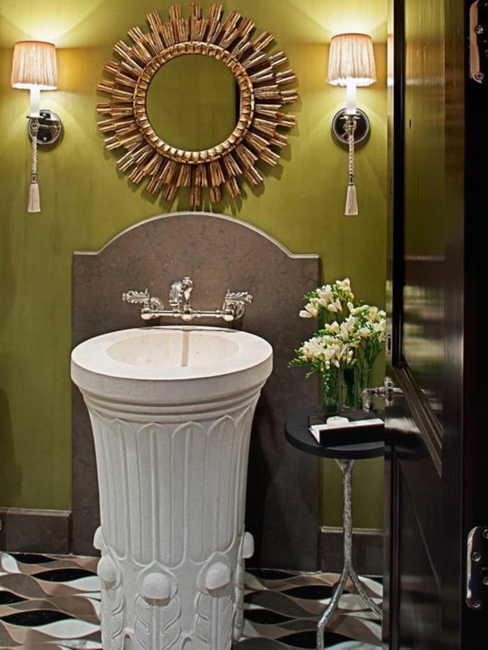 lavabo-colonne-design-antique-mur-vert-deux-appliques-murales