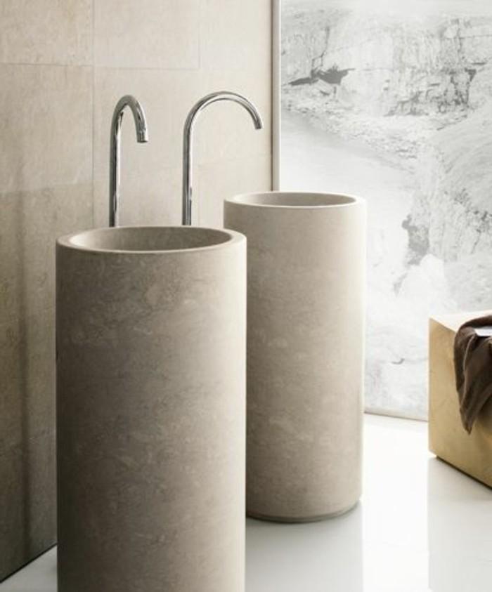lavabo-colonne-deux-vasques-colonnes-gris-clair