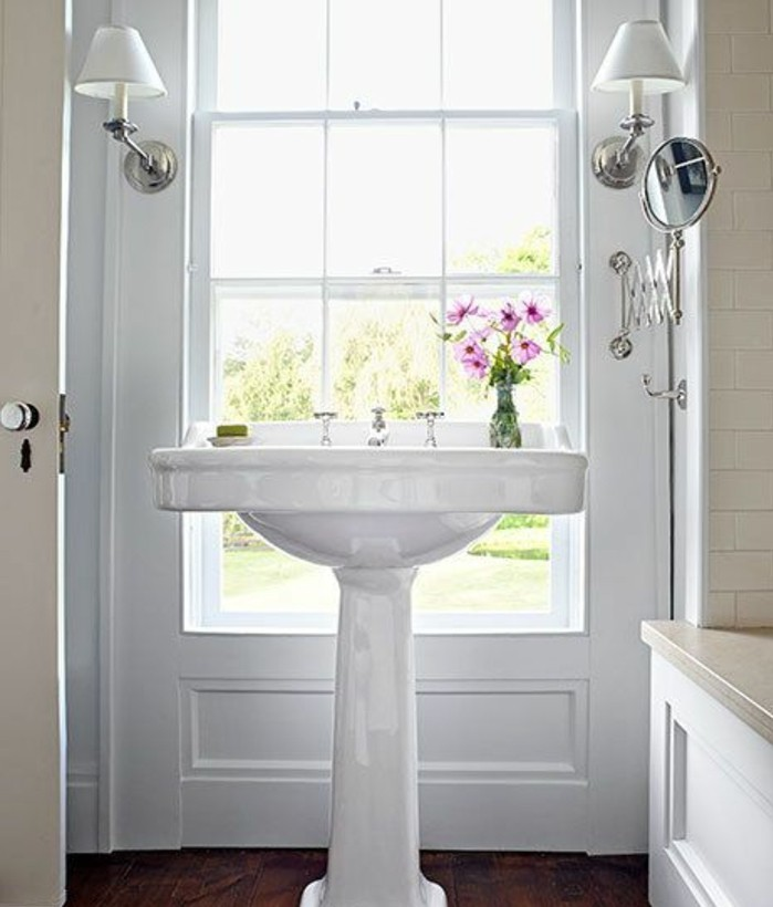 Le lavabo colonne en 81 photos inspirantes - Lavabo sur pied salle de bain ...