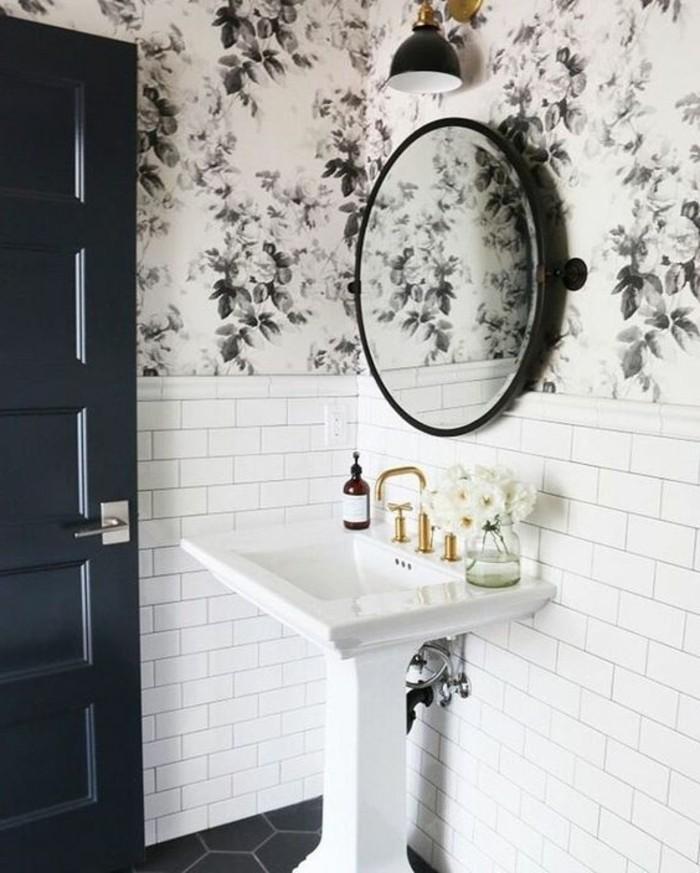 lavabo-colonne-papier-peint-de-salle-de-bain