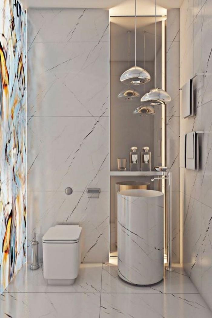 Le lavabo colonne en 81 photos inspirantes for Colonne de salle de bain moderne