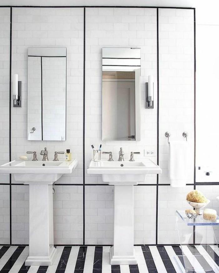 lavabo-colonne-sol-noir-et-blanc-carrelage-metro-deux-vasques-sur-pied