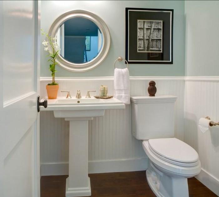 Le lavabo colonne en 81 photos inspirantes for Petit miroir rond sur pied