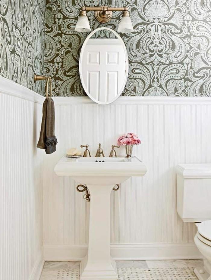 Le lavabo colonne en 81 photos inspirantes - Miroir ovale sur pied ...
