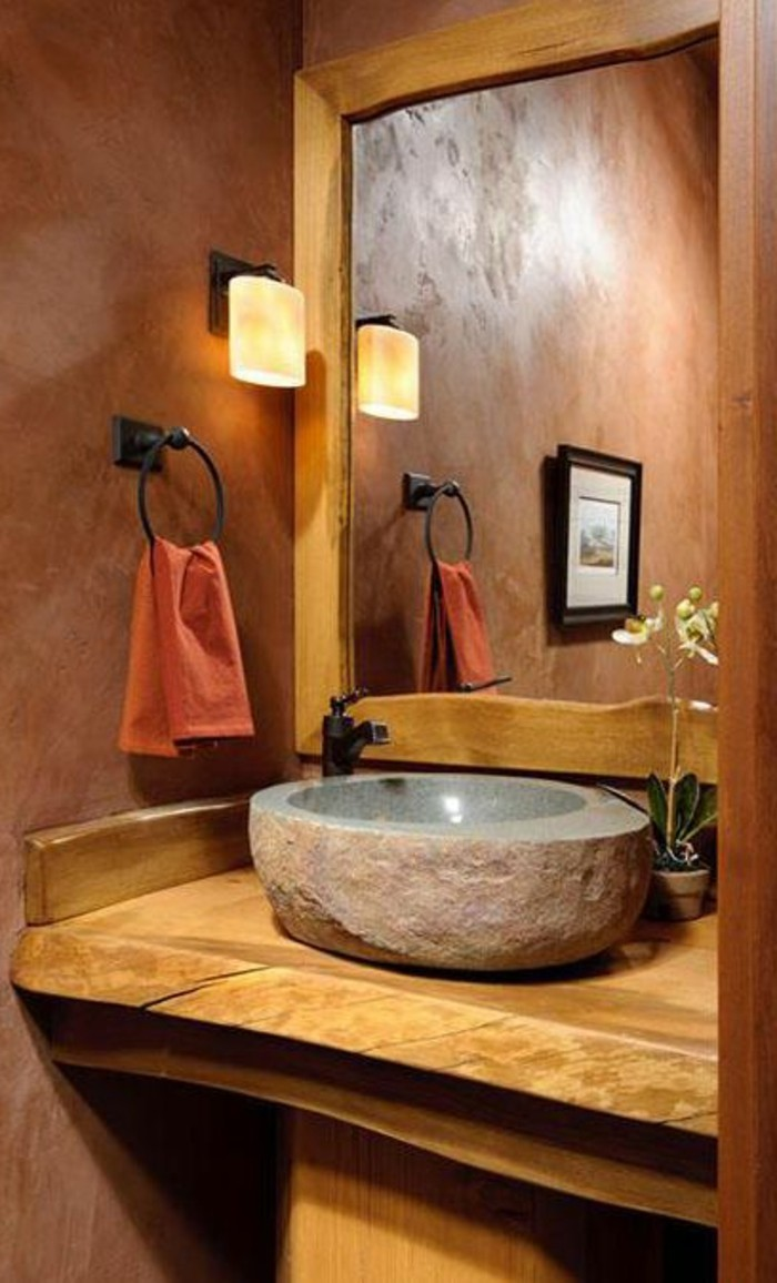 Accessoire Salle De Bain Pierre Grise ~ le lavabo en pierre en 61 photos et des astuces d co archzine fr