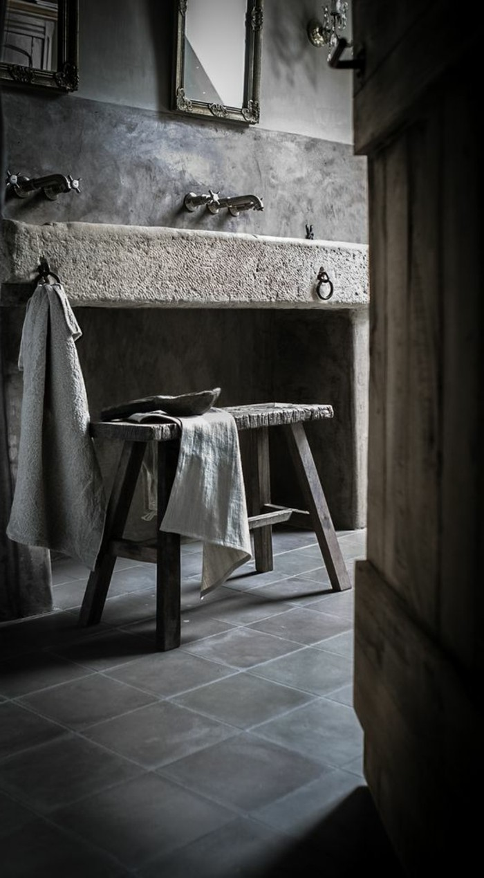Le lavabo en pierre en 61 photos et des astuces d co for Lavabo salle de bain style ancien