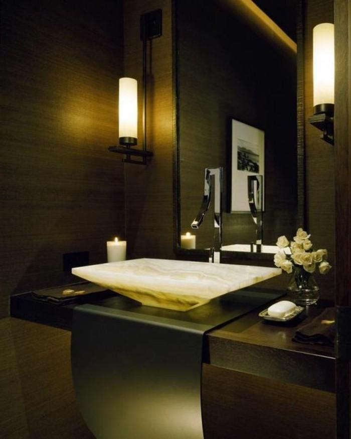 le lavabo en pierre en 61 photos et des astuces d co. Black Bedroom Furniture Sets. Home Design Ideas