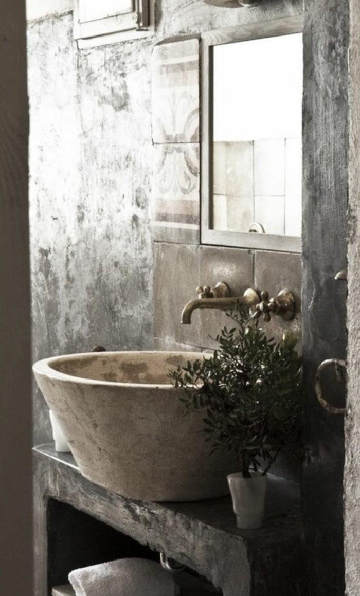 Le lavabo en pierre en 61 photos et des astuces déco