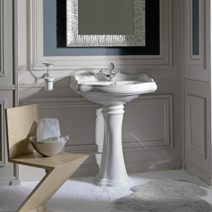 lavabo-retro-blanc-ceramique-chaise-moderne-bois