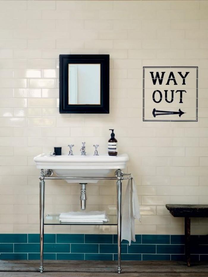 Choisissez un joli lavabo retro pour votre salle de bain for Petit miroir blanc