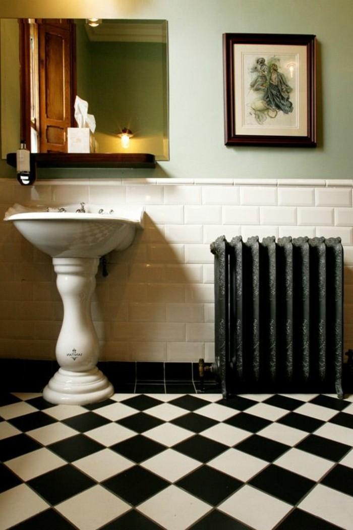 lavabo-retro-carrelage-damier-et-lavabo-style-vintage