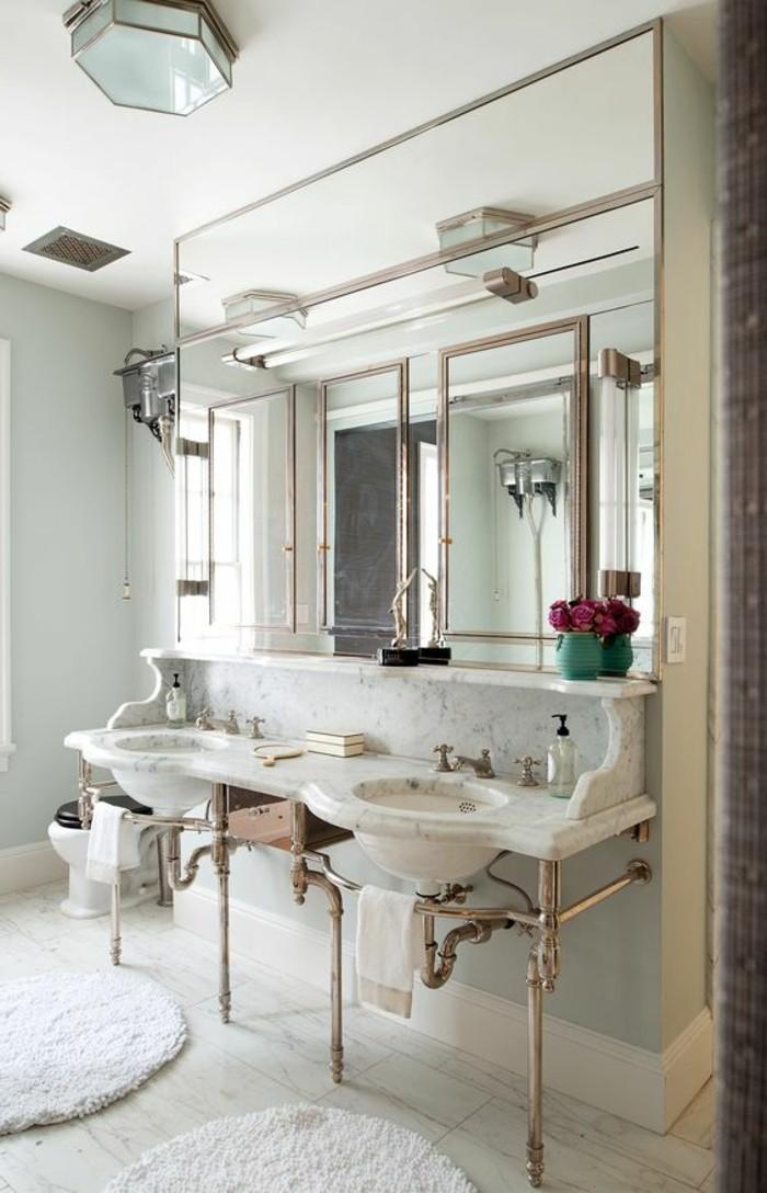 lavabo-retro-double-lavabo-avec-porte-serviette-metallique