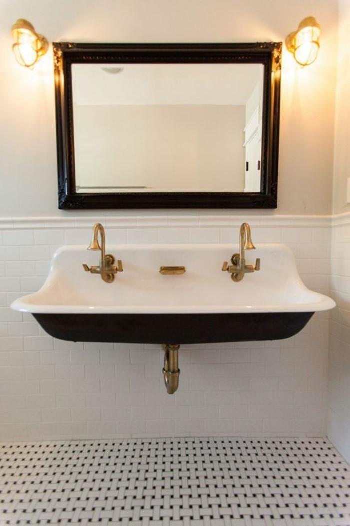 lavabo-retro-robinets-anciens-lavabo-en-noir-et-blanc