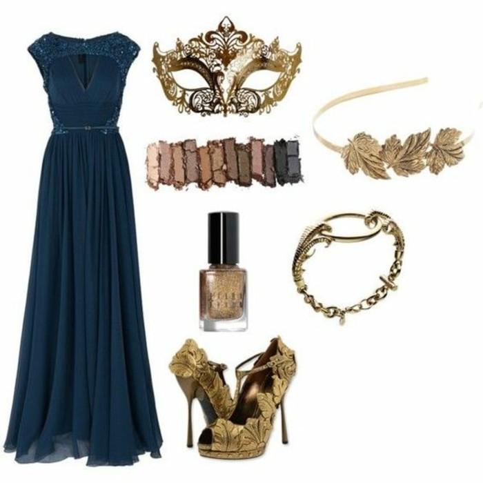 le-bal-masque-masque-noir-soiree-parfait-longue-robe-bleue