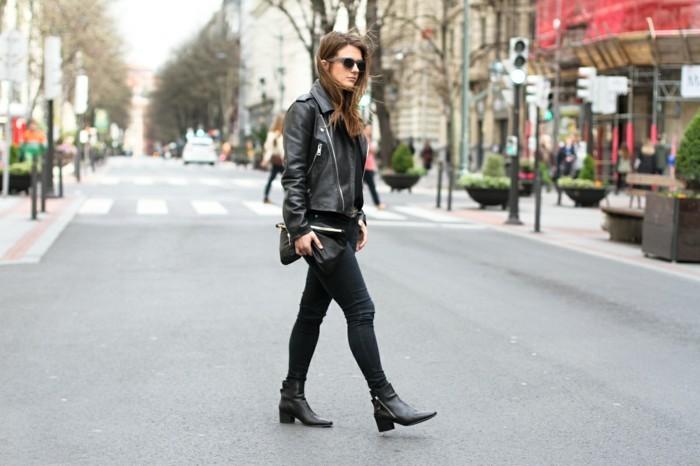 le-chic-casuel-zalando-chaussure-bottine-femme-tendance-veste-moto-cuir