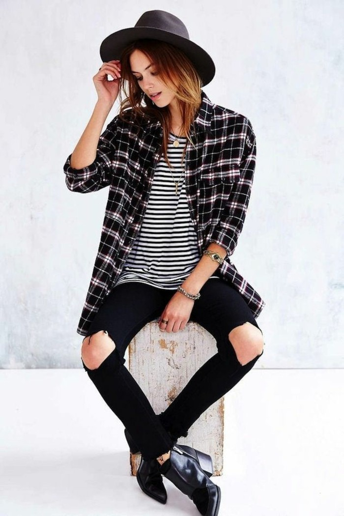 les-bottes-tendance-bottines-a-la-mode-magnifique-idee-tenue-casuel