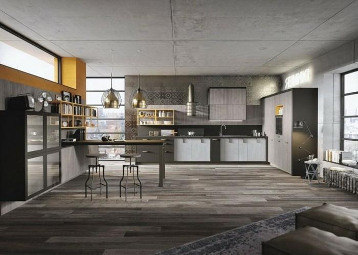 magnifique-deco-industrielle-en-differentes-nuances-du-gris-gris-ardoise-gris-perle-gris-anthracite-et-taupe-ambiance-loft-industrielle-elegante-petit-accent-jaune