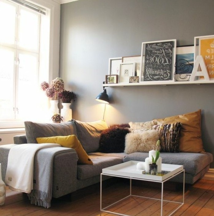 Idee deco salon gris meilleures images d 39 inspiration for Deco salon gris