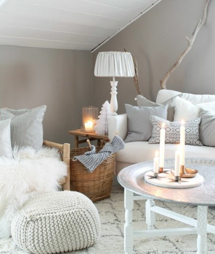 Idee deco salon gris et blanc for Deco interieur gris blanc