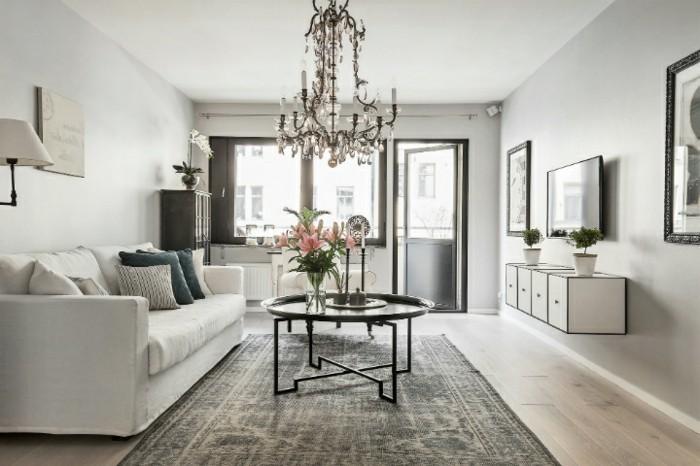 magnifique-salon-gris-et-blanc-couleur-peinture-salon-gris-perle-superbe-canape-blanc-lustre-somptueux-et-tapis-use-salon-raffine