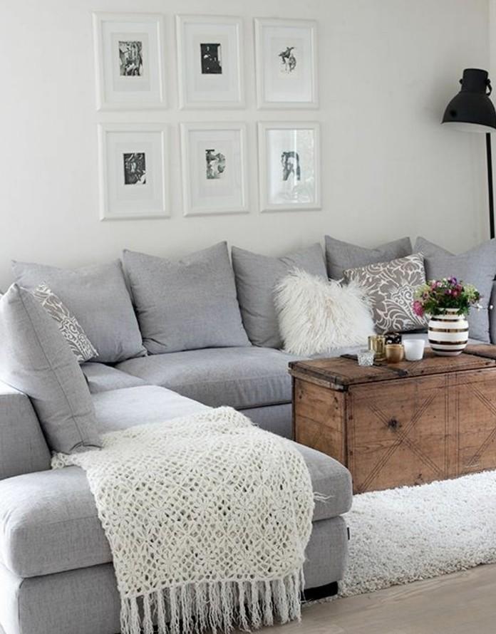 magnifique-suggestion-amenagement-salon-en-gris-et-blanc-peinture-murale-blanche-canape-gris-tapis-gris-table-basse-coffre-style-vintage