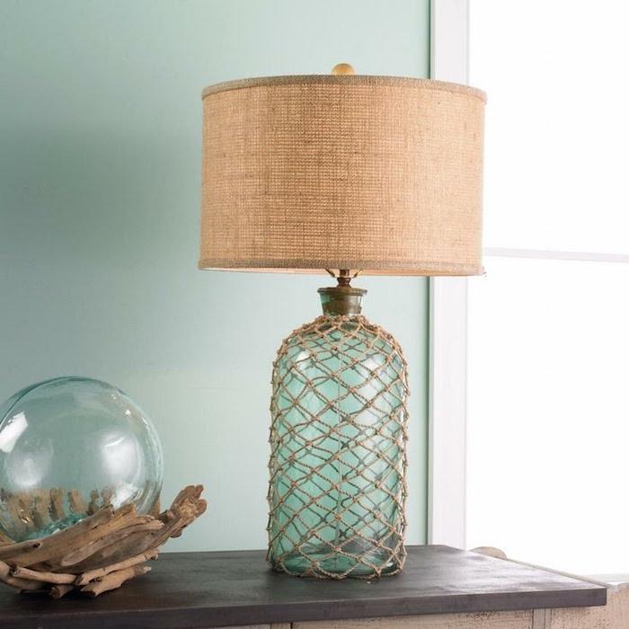 lampe-bouteille-mer-abat-jour-jute-idée-deco-diy