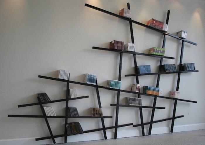1001 id es tag res murales 77 mod les qui vont vous accrocher - Etageres bibliotheques design ...