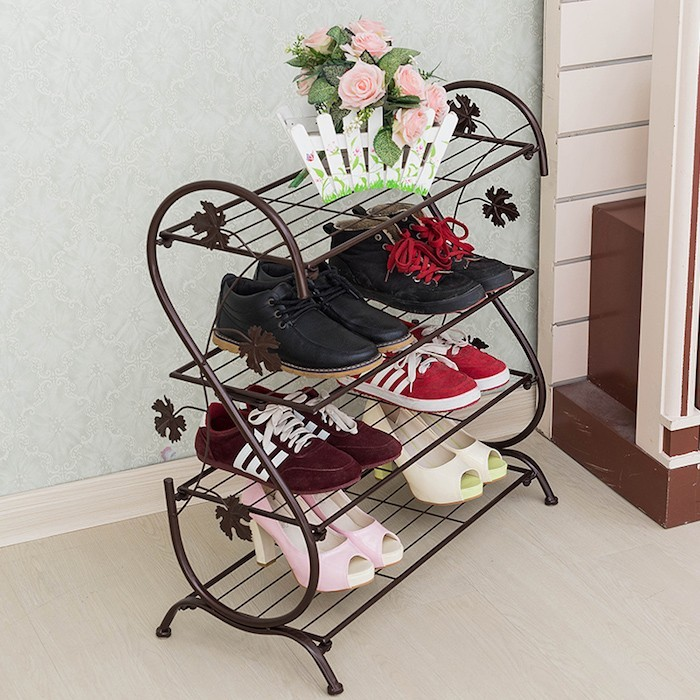 meuble-fer-chaussures-entree-etagere