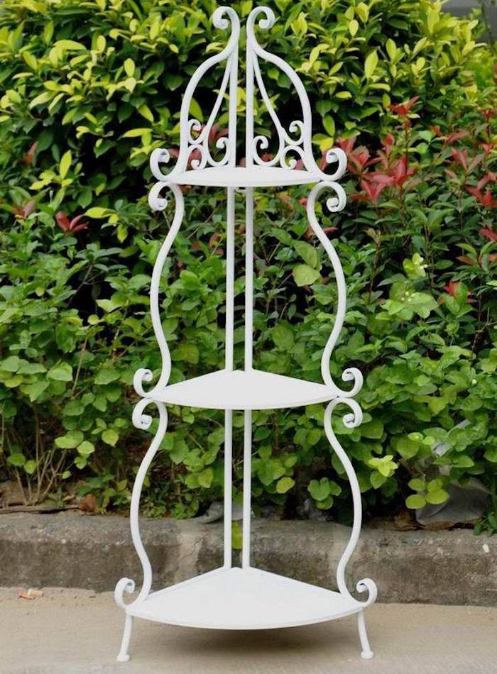 Beautiful porte plante fer forge 10 meuble fer etagere metal blanc deco maison - Deco jardin fer forge toulon ...