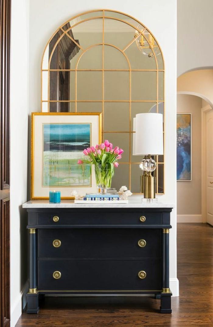 miroir-original-grand-miroir-fenetre-commode-noire-retro