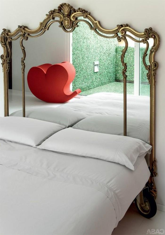 40 exemples de d coration avec un miroir original - Tete de lit en forme de coeur ...