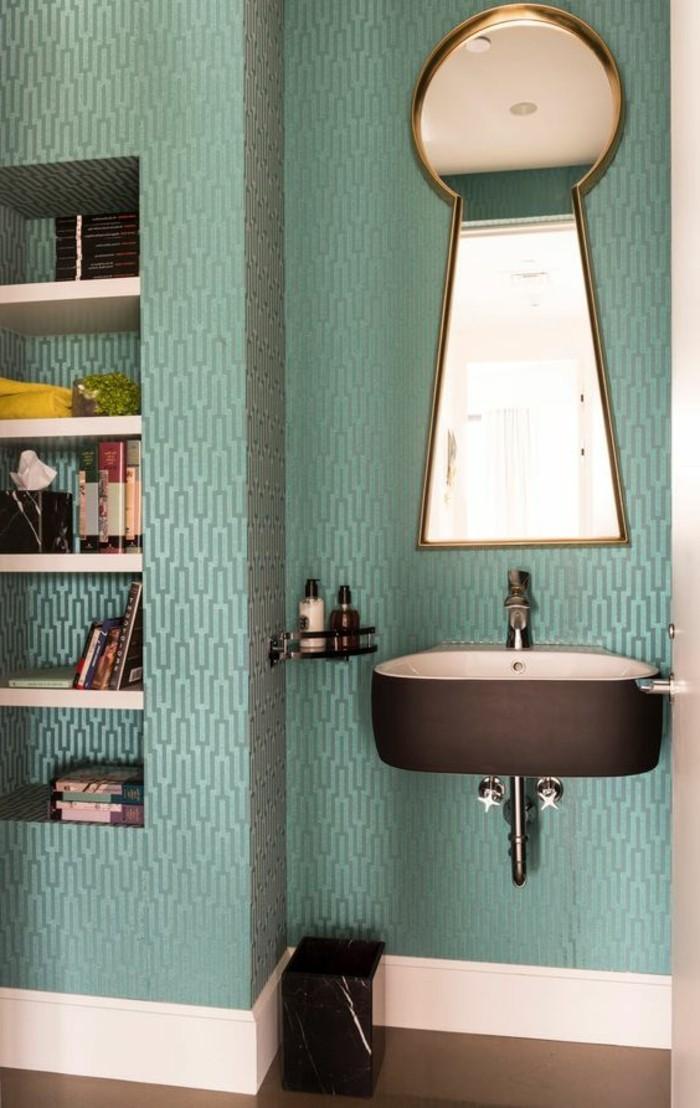 miroir-original-vasque-vintage-noire-mur-bleu