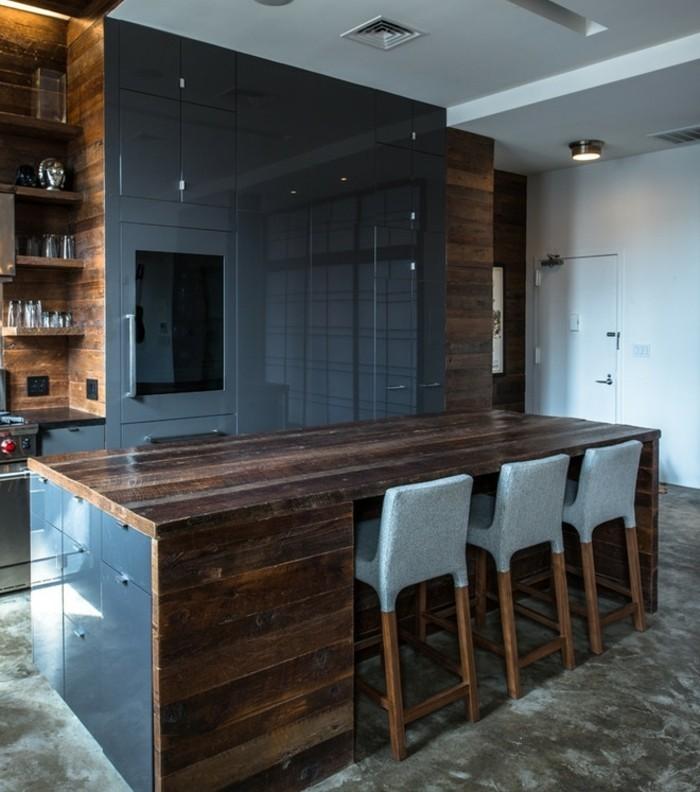 cuisine industrielle l 39 l gance brute en 82 photos exceptionnelles. Black Bedroom Furniture Sets. Home Design Ideas