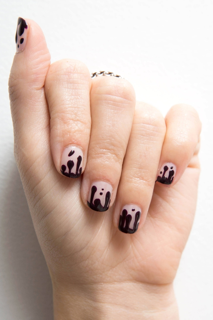 ongles-manucure-deco-ongles-halloween-admirable-facile